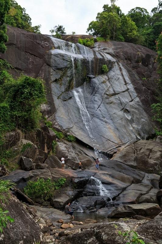 Водопад семь колодцев в сухой сезон