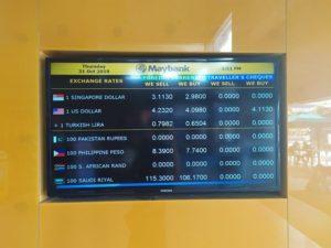 Обмен валюты на Лангкави