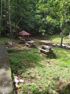 Зона отдыха у водопада Темурун