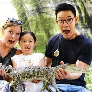 фото с крокодилом на Лангкави