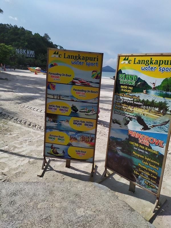 цены на развлечения на Лангкави